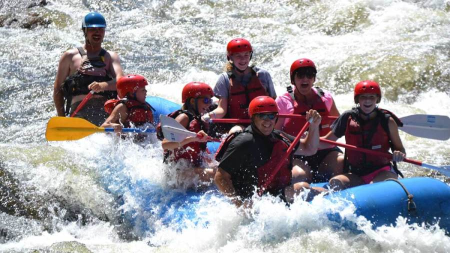 Activities on the Colorado River include rafting with MAD Adventures