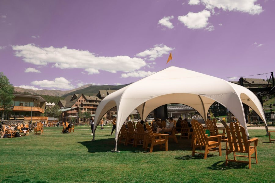 The shade tent-perfect for cooling off after a day in the summer sun