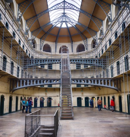 The main hall at Kilmainham Gaol, in Dublin.