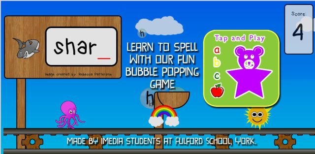 ABC Tap And Play: fun spelling app for kids
