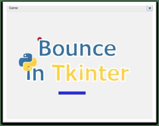 Bounce game: Online python tkinter simulator