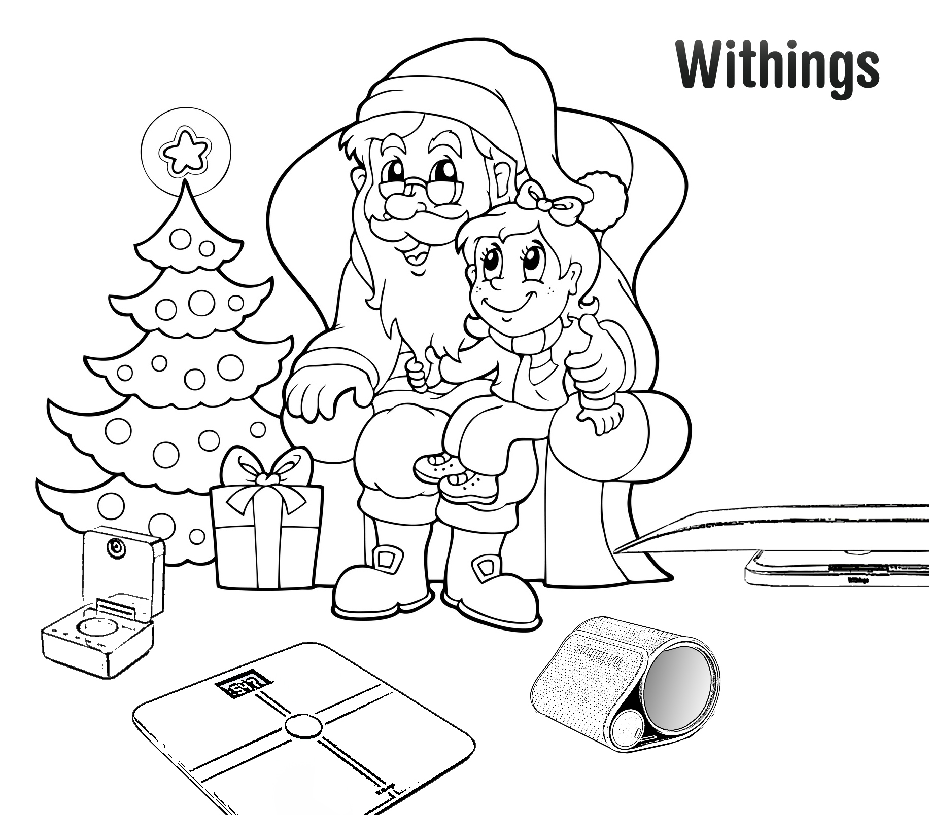 """""""Kids! Draw Santa Claus!"""": our Facebook drawing/coloring"""