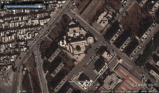 Image © 2013 Digital Globe - © Google Earth - lat 36.230483° lon 37.191933° - October 5, 2011