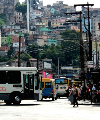 Buses don't go to favelas, excluding entire communities from access to transportation.