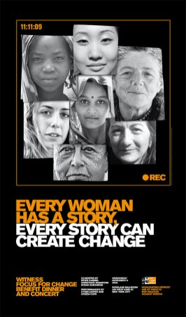 2009: Every Woman has a Story, Every Story Can Create Change