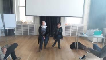 Raja Althaibani and Mayss Al-Zoubi at MENA convening in Turkey