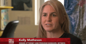 WITNESS Senior Attorney and Program Manager Kelly Matheson speaking about video as evidence on PBS. Check out the segment here.
