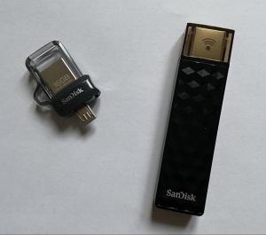 OTG drive and a wireless thumb drive