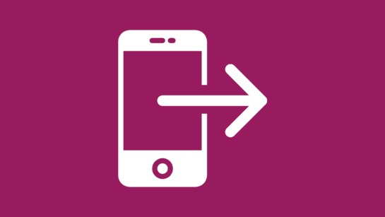 graphic of phone and arrow