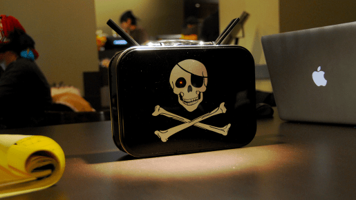 router with piratebox logo