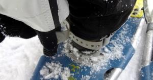Schneeschuh festzurren