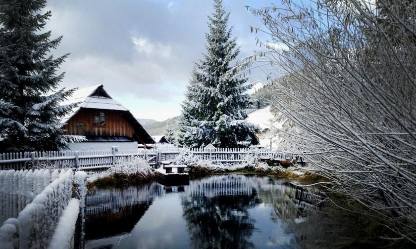 Almdorf Seinerzeit - Kärnten - Hütte am Teich