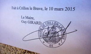 Amtliche Bekanntmachung Crillon Le Brave