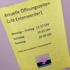Öffnungszeiten Container Café  Entenwerder1 Hamburg