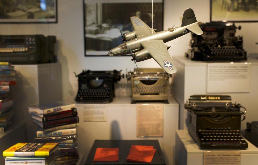 Schaukasten Schreibmaschinenmuseum Partschins