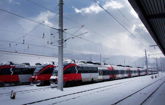 Bahnhof Innsbruck im Winter