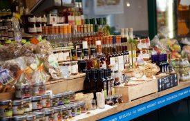 Wochenmarktstand Bozen