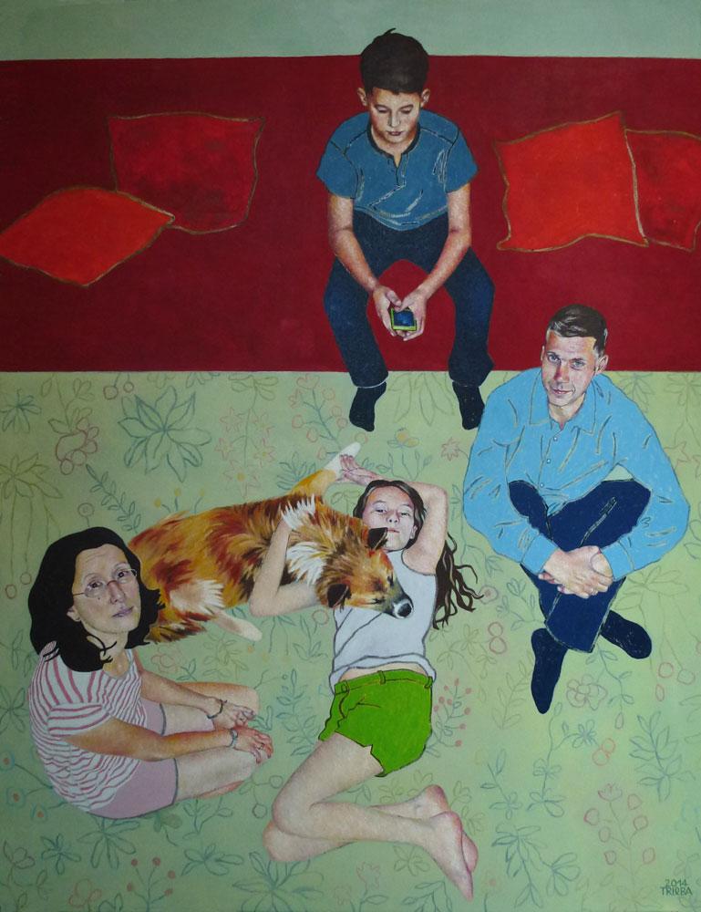 Anne Trieba - Familie P - München 2014 110x80