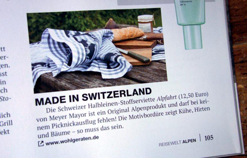 Wohlgeraten im Alpenmagazin