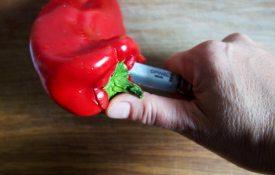 Paprika entkernen