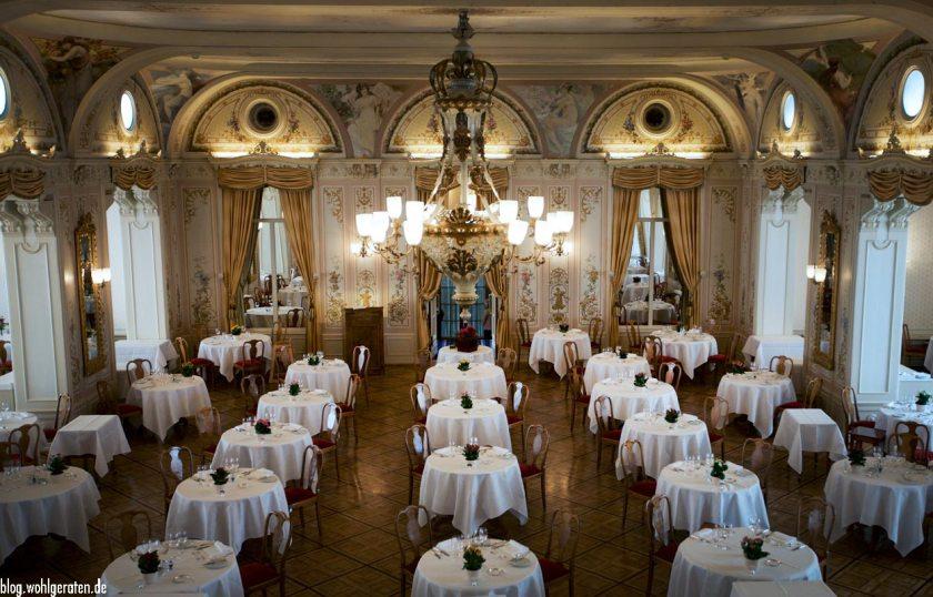 Speisesaal Grandhotel Kronenhof Pontresina