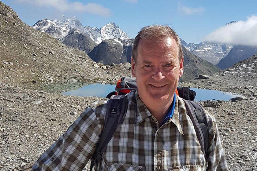 Peter von Stamm an den Jöriseen, Graubünden, Schweiz