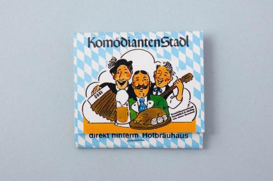 Streichholzschachtel Münchner Komödiantenstadl