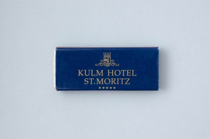 Streichhölzer Kulm Hotel St. Moritz