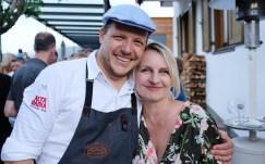 mit Chefkoch Andrea Irsara im Stüa dla La