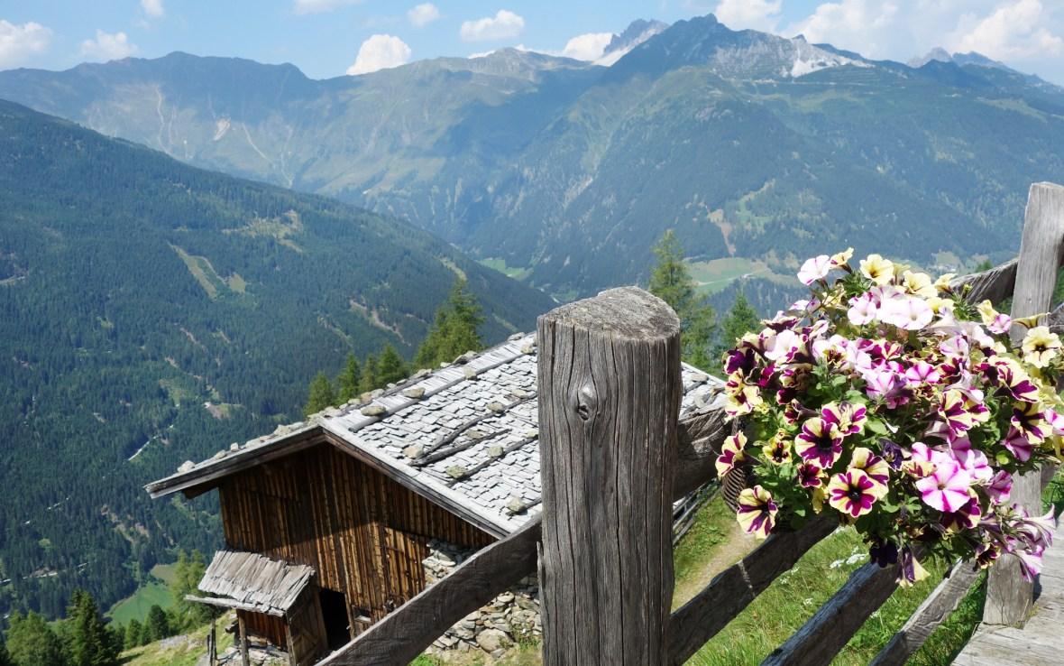 Klamperbergalm – Blick ins Tal