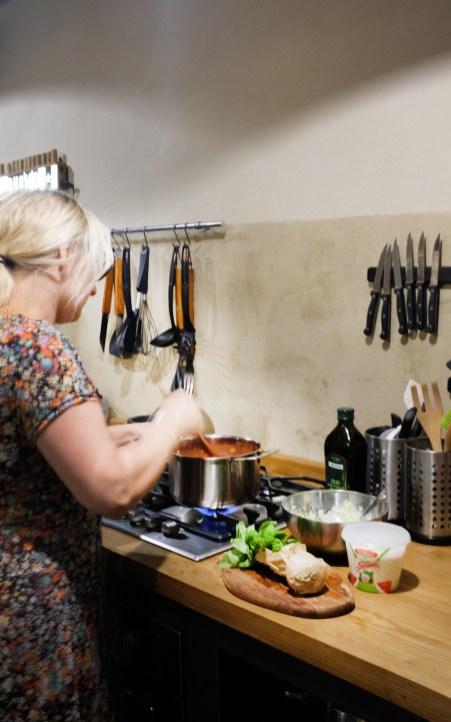 In der Küche im Casa Castello
