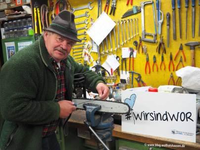 Michael Angermeier in seiner Werkstatt