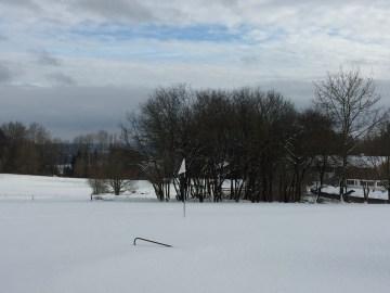 Der Golfplatz ist im Winterschlaf
