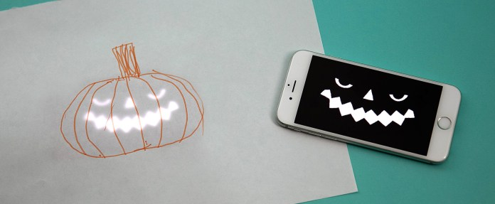 Halloween Blinkies pumpkin drawing