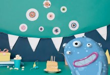 monster birthday party invite decoration