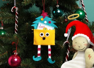 christmas, tree, decorations, sewing, activity