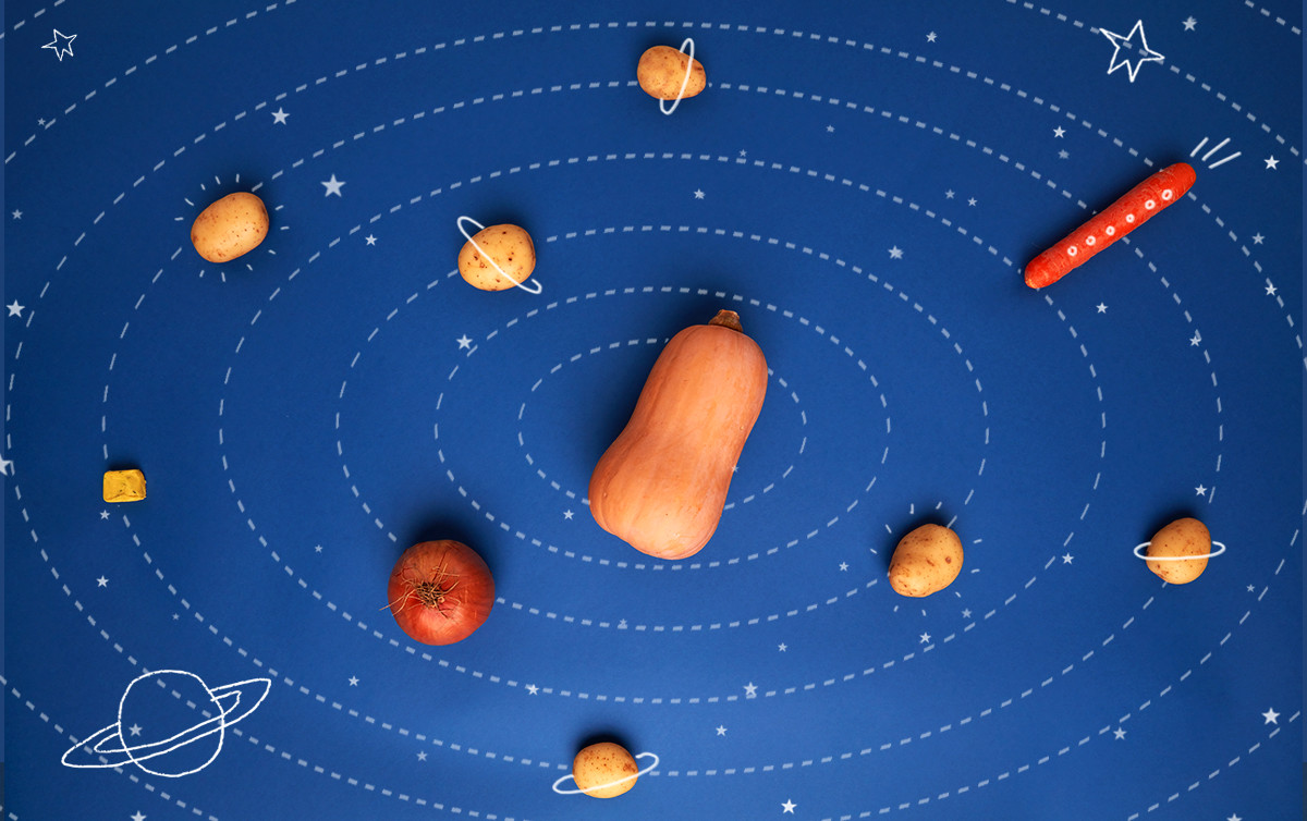 Haz sopa espacial con tu pequeño explorador. Maravillosamente