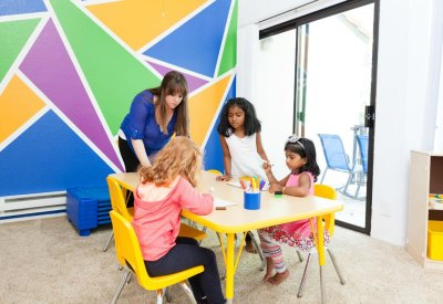 The best preschool in Pleasanton: children learning at Little Scholar Preschool