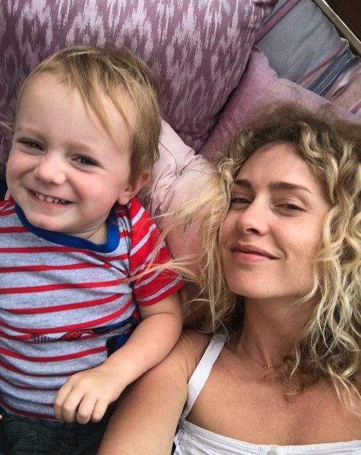 Amber and her son Valentine who attends family child care
