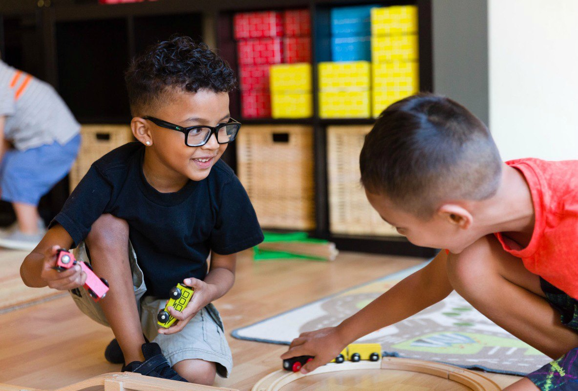 Children playing in Walnut Creek home preschool