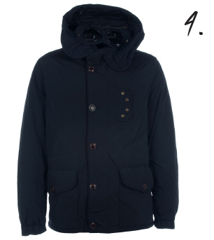 CP Company Navy Hooded Goggle Down Jacket