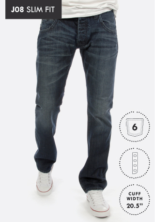 Armani Jeans J08 Slim Fit Blue Denim