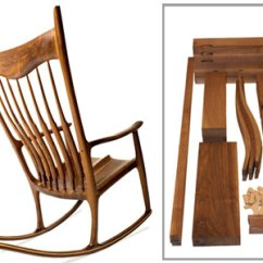 Building A Rocking Chair Poolside Table And Chairs From The Man Charles Brock S Maloof Inspired Rocker Kit