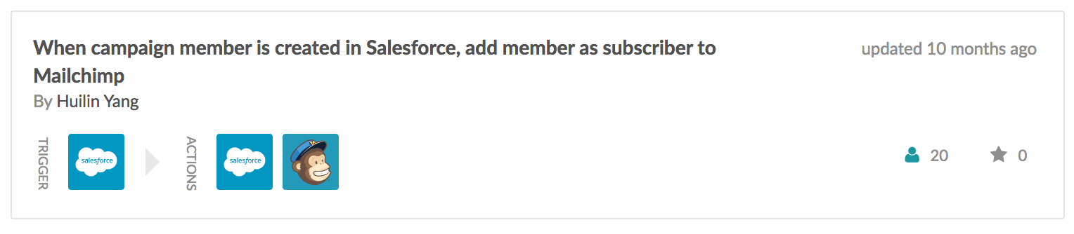 campaign member in salesforce to mailchimp