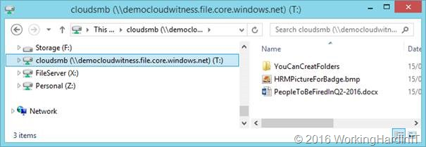 On premises access to Azure files services - Working Hard In