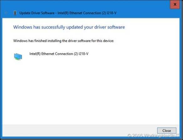 Installing Intel I211, I217V, I218V and I219V drivers on