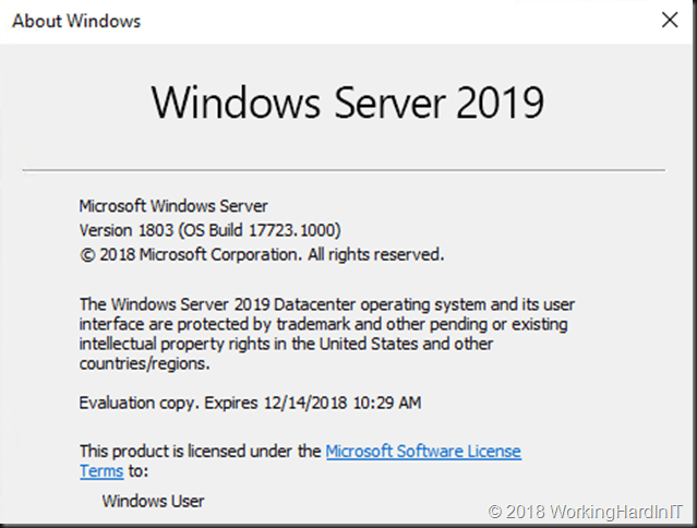Windows Server 2019 in place upgrade testing - Working Hard In