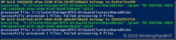 Correcting the permissions on the folder with VHDS files & checkpoints for host level Hyper-V guest cluster backup