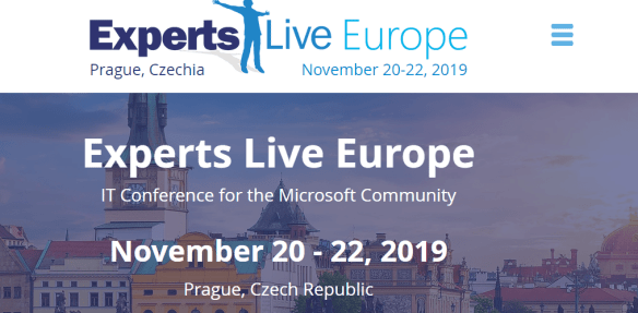 k from Experts Live Europe 2019