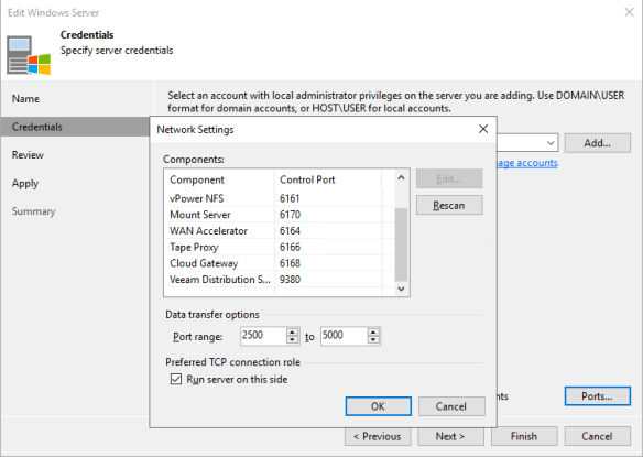 Make Veeam Instant Recovery use a preferred network